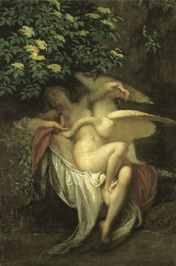 Székely Bertalan Léda hattyúval című festménye