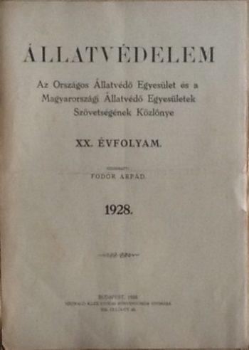 Állatvédelmi jelentés az 1900as évek elejéről